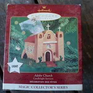 New Hallmark Adobe Church Ornaments